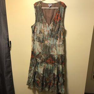 Boho dress with prairie skirt